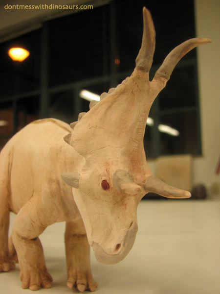 Diabloceratops eatoni (bisque-fired red stoneware)