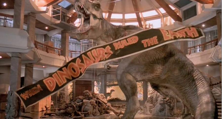 Jurassic Park T-Rex from end of the movie