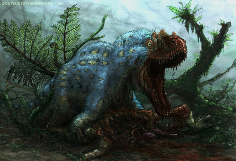Yutyrannus huali defends its kill